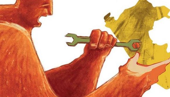 """""""En la 57° edición del CADE Ejecutivos, que se realizará en Paracas esta semana, se hará una revisión de los retos pendientes, y se abordará la importancia de la institucionalidad, la competitividad y la lucha contra la corrupción"""", detalla Villalobos. (Ilustración: Giovanni Tazza)"""