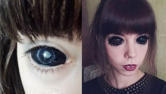 Sadowska empezó a perder la vista paulatinamente después del tatuaje que se hizo. (Captura de Instagram)