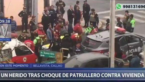 El accidente será investigado por la comisaría de Bellavista. (Captura: Canal N)