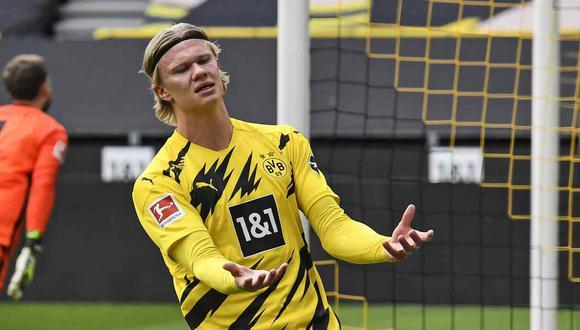 Directivo de Borussia Dortmund anunció que las condiciones para fichar a Erling Haaland son innegociables. (Foto: AP)