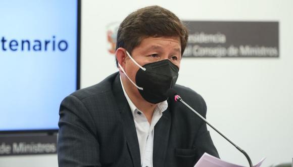 El presidente Guido Bellido señaló que no recuerda las publicaciones que hizo sobre Edith Lagos (Foto: Andina)