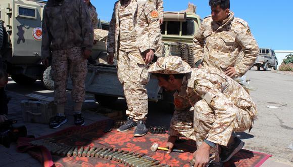 Tropas en Libia, listas para el siguiente combate. (Foto: EFE)
