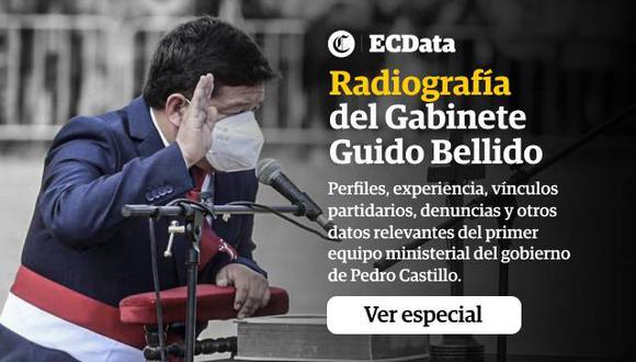 Perfiles, experiencia, vínculos partidarios, denuncias y otros datos relevantes del primer equipo ministerial del gobierno de Pedro Castillo.