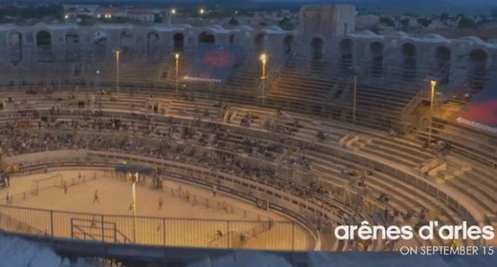 Zidane protagoniza spot publicitario en anfiteatro romano
