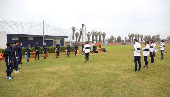 Alianza Lima continúa sus trabajos colectivos en el Esther Grande de Bentín. (Foto: Alianza Lima)