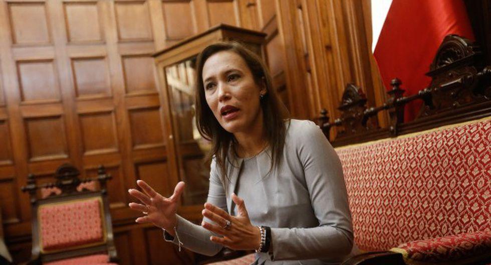 """Congresista Paloma Noceda señaló que Tamar Arimborgo cometió un """"error"""" al no debatir el preinforme de Sunedu, elaborado en la legislatura pasada. (Foto: GEC)"""