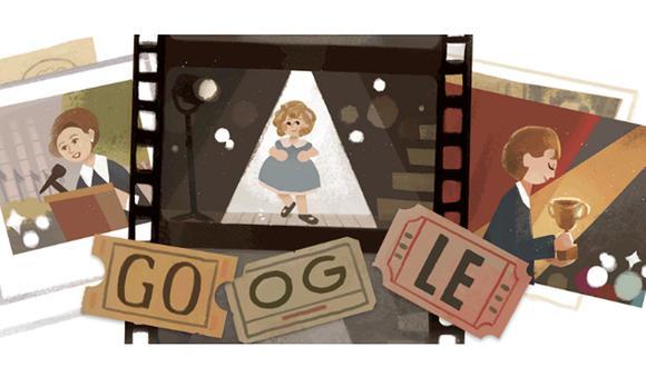Shirley Temple es homenajeada con un doodle animado. (Foto: Google)