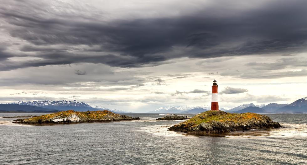 El 'faro del fin del mundo' ubicado en el conjunto de islotes llamado Canal del Beagle, una zona que todavía sigue causando controversia entre Argentina y Chile. Getty Images