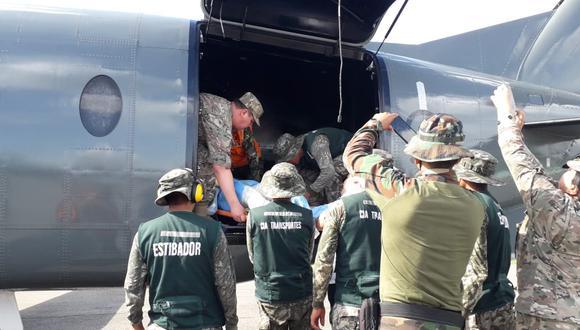 El policía que resultó herido durante el enfrentamiento fue trasladado a Lima para que sea atendido.