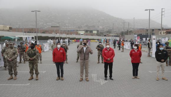 Presidente Martín Vizcarra participó en actividad acompañado por ministros de Defensa y del Interior (Foto: Presidencia)