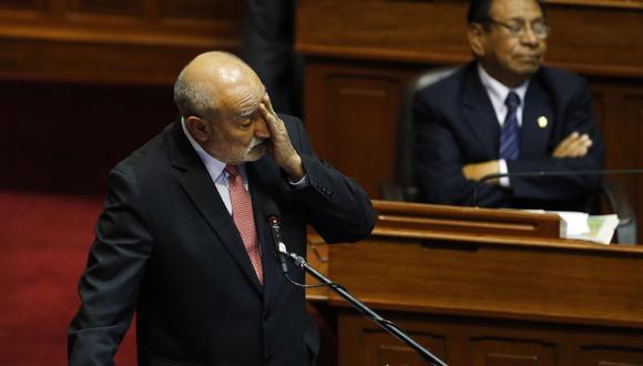 Casi vacío. Así lucía el Hemiciclo cuando el ministro Eleodoro Mayorga respondía las preguntas de la interpelación. (Foto: Rolly Reyna)