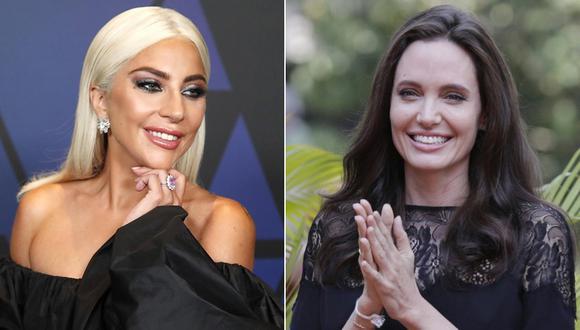 Lady Gaga y Angelina Jolie. (Fotos: Agencias)