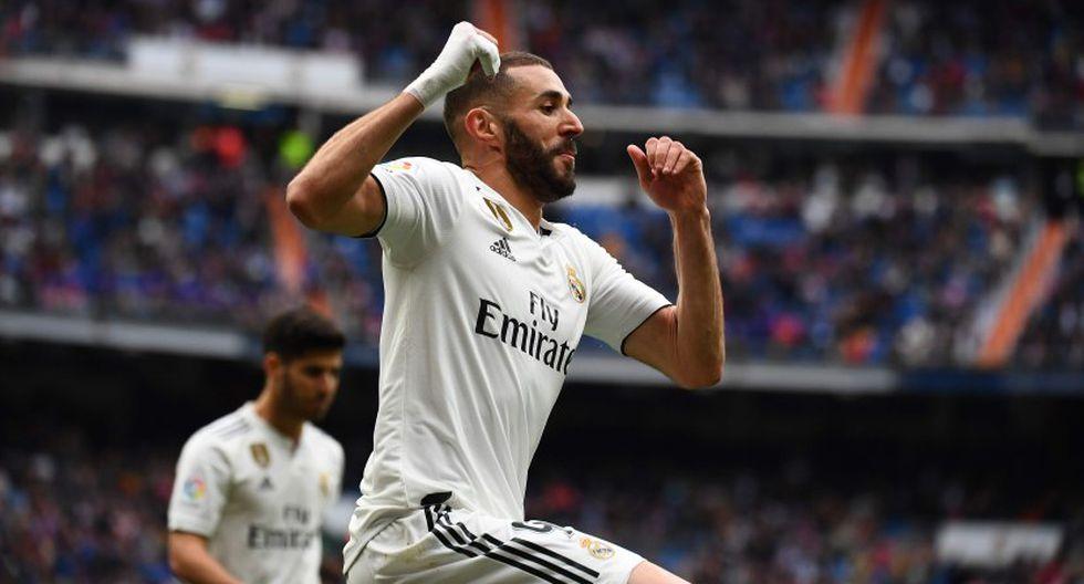 Karim Benzema marcó el tercero para Real Madrid frente al Athletic Club. (Foto: AFP)