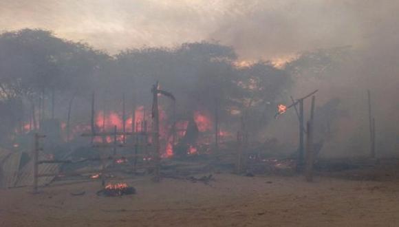 Ica: incendio consumió 14 viviendas y dejó 58 damnificados