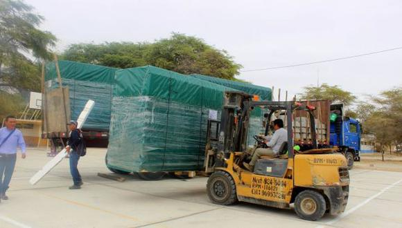 Piura recibe 250 aulas prefabricadas ante fenómeno de El Niño