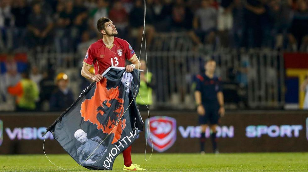 Serbia vs. Albania: la violencia estuvo presente en el duelo  - 1
