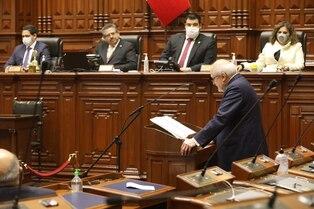 Congreso no otorgó el voto de confianza al gabinete de Pedro Cateriano