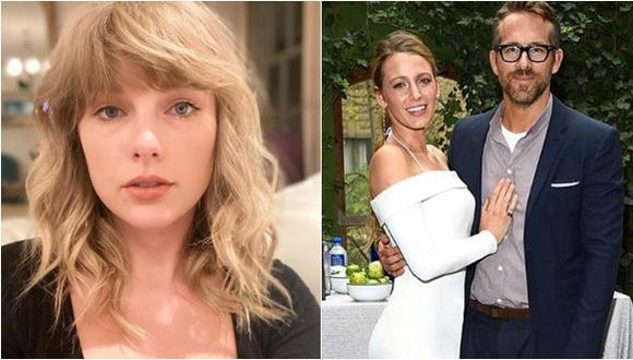 Taylor Swift (izquierda) y la pareja conformada por Ryan Reynolds y Blake Lively.