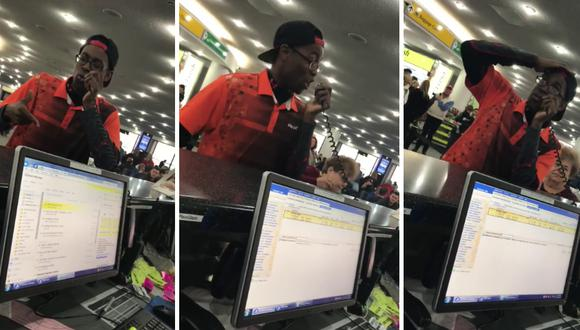 Un beatboxer deleitó a todas las personas que esperaban su vuelo de una inusual manera. (Foto: Adym Evans en Facebook)