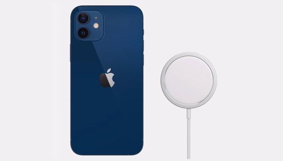 IPhone 12 y cargador con MagSafe. (Imagen: Apple)