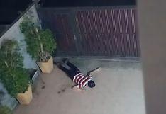 Ladrón cayó violentamente tras saltar el muro de una casa en Tailandia | Video