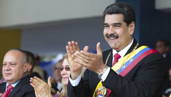 Nicolás Maduro y Diosdado Cabello, quien habría sido contactado por Estados Unidos. (AFP).