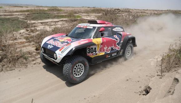 El piloto francés Stephane Peterhansel (Mini) ganó la Tercera Etapa del Dakar 2019, que comprendió la ruta San Juan de Marcona-Arequipa. (Foto: AP)