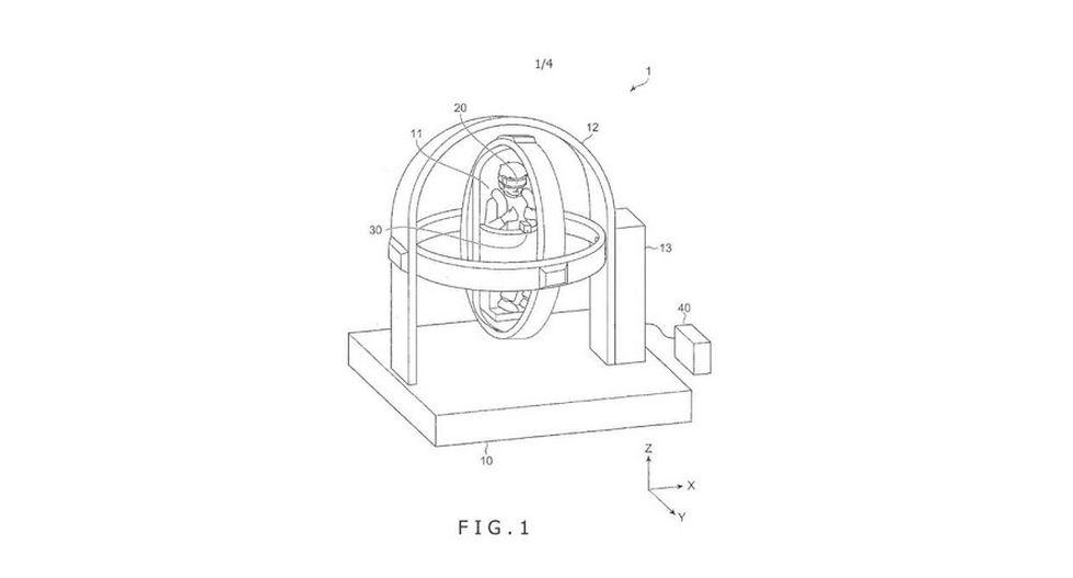 Así se vería el nuevo asiento de Sony. (Imagen: United States Patent and Trademark Office)