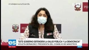"""Violeta Bermúdez: """"ataques buscan desprestigiar la vacunación"""""""