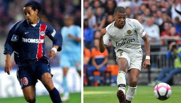 Además de haber vestido la camiseta de París Saint Germain, Ronaldinho y Kylian Mbappé tienen características muy similares entre sí, como lo muestra este video de Facebook. (Foto: Prensa Libre)