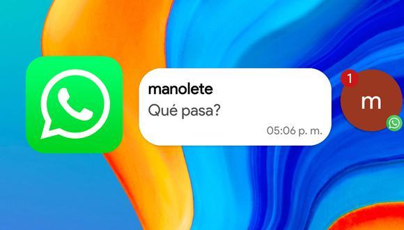 Conoce el truco para activar ahora las burbujas de Facebook Messenger en WhatsApp. (Foto: Xataka Android)