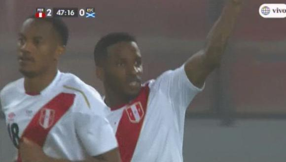 Perú vs. Escocia: el gol de Jefferson Farfán para el 2-0 en el Estadio Nacional | VIDEO