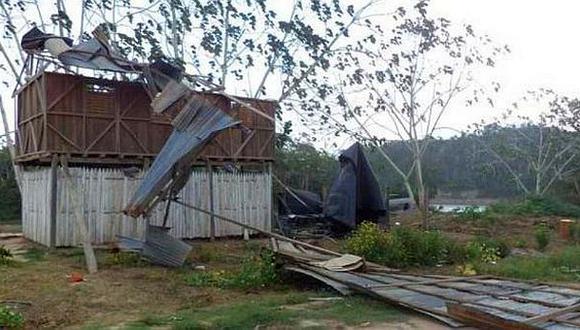 El Cenepa: fuertes vientos dejaron sin techos a viviendas