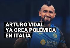 Arturo Vidal enciende la polémica en Italia tras su arribo al Inter de Milán