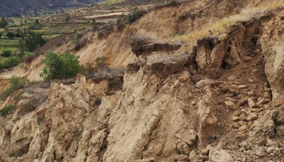Deslizamiento del suelo ha perjudicado a la comunidad de San Pedro de Uchupata, en la provincia de Antonio Raimondi  (Foto: Coer Áncash)