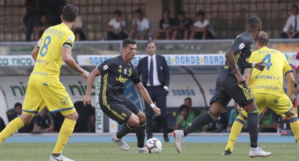 Juventus vs. Chievo EN VIVO: Cristiano realizó gran acción personal que casi termina en un golazo. (Video: AFP)