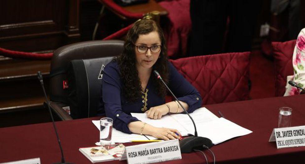 Bartra dijo que se busca sancionar el acoso político sin distingos. (Foto: Rolly Reyna/GEC)