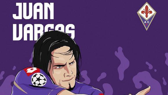 Celebración de Juan Manuel Vargas fue nominada por la Fiorentina como una de las más icónicas de su historia | Foto: Fiorentina