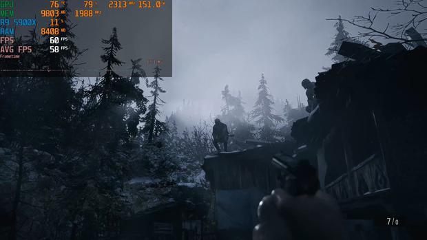 Resident Evil Village dengan RX 6700 XT.  (tangkapan layar)