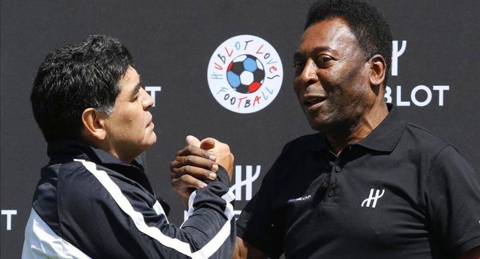 Pelé mostró su pesar tras conocer fallecimiento de Diego Maradona (Foto: AFP)