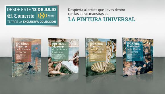 Son 8 entregas con las obras maestras mas emblemáticos de la pintura universal, El grito, Munch, La Gioconda, Leonardo da Vinci, La creación de Adán, Miguel Ángel, entre otros.