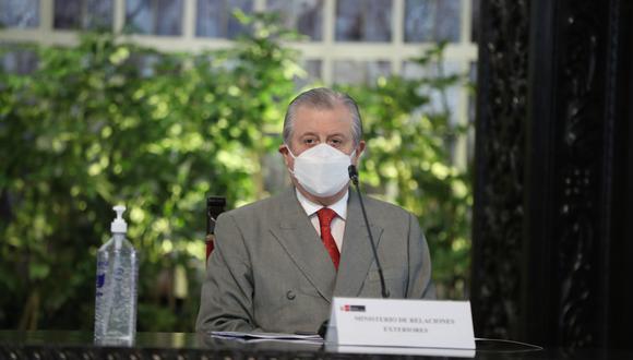 """El canciller se mostró en contra de iniciativa presentada por congresistas de Perú Libre. """"Todo eso colisiona con los instrumentos de carácter multilateral"""", expresó. (Foto: Cancillería)"""