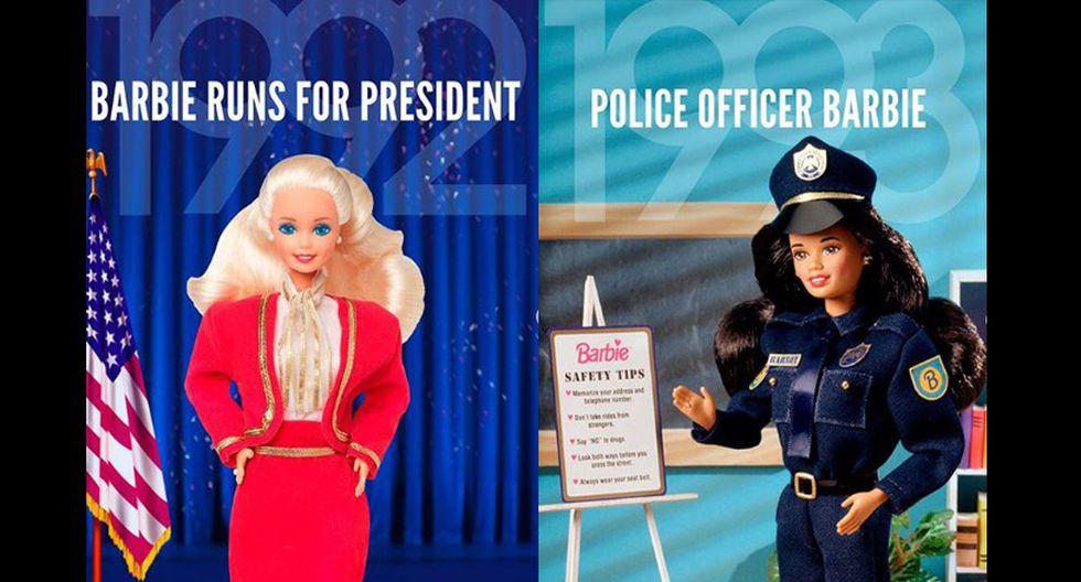 En los 90, las profesiones de Barbie se comenzaron a diversificar, representándola incluso en carreras dominadas por varones, rompiendo los esquemas de la sociedad. (Fotos: Instagram/ @barbie)