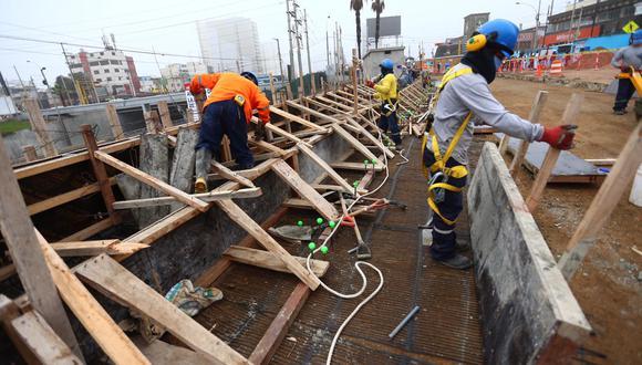 El sector construcción impulsó la recuperación de la PEA. (Foto: GEC)