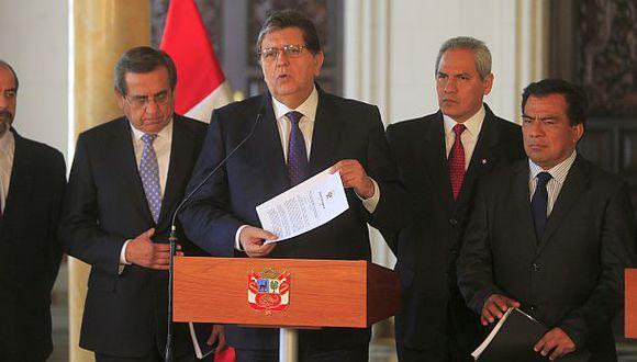 Ex mandatario Alan García saludó nombramiento del nuevo titular del MEF, Alonso Segura. ( Foto: Archivo El Comercio).