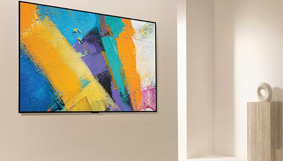 Al colocarse en la pared, el televisor OLED GX Diseño Galería 2020 resalta como si fuera una obra de arte.