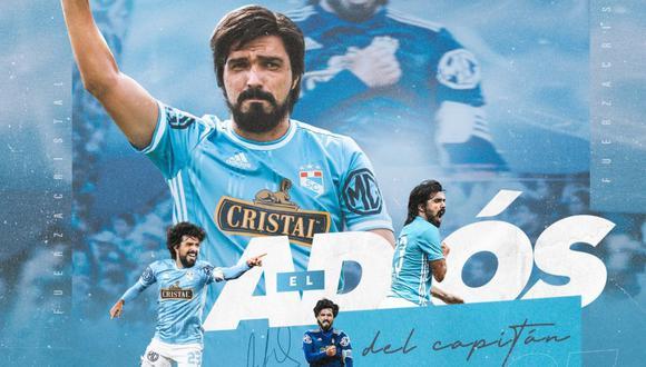 Sporting Cristal se despidió de su capitán Jorge Cazulo en redes sociales | Foto: @ClubSCristal