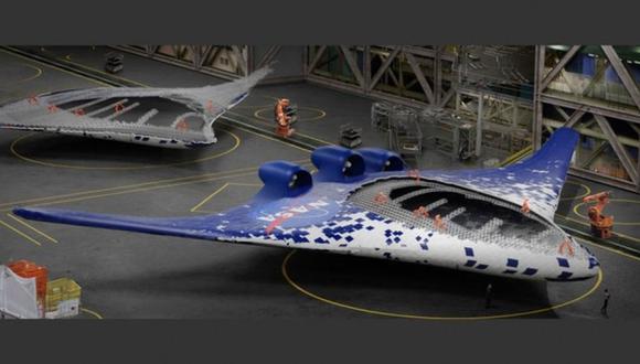 En esta recreación, la NASA ilustra cómo se podrían construir en el futuro los aviones con las nuevas alas. (Foto: Centro de Investigación Ames de la NASA)