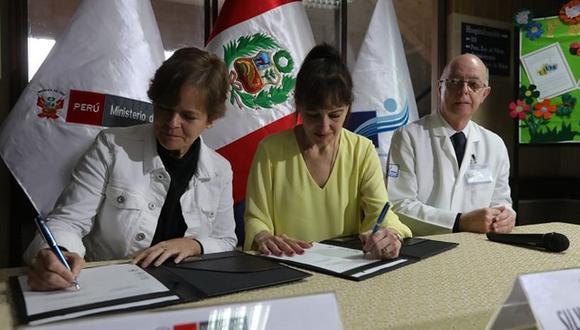 El convenio fue firmado en la sede del INEN. (Difusión)