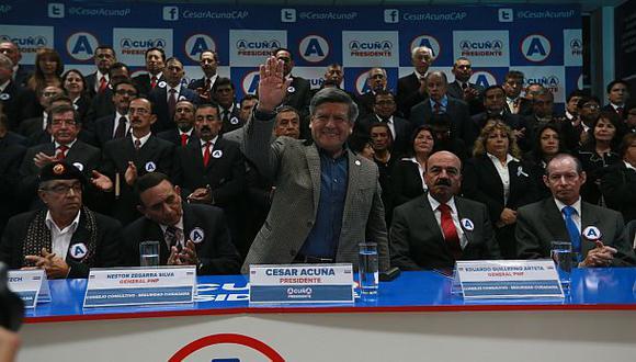 ONPE: Partido de César Acuña gastó más de S/5 millones en marzo